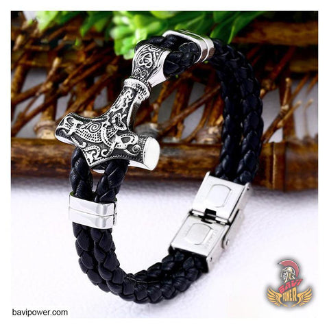 Image of Mjolnir hammer bracelet Viking Jewelry