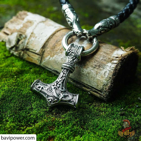 Viking Thor Hammer Necklace depicting the ancient Mjolnir hammer pendant. But what Viking Jewelry Purposes