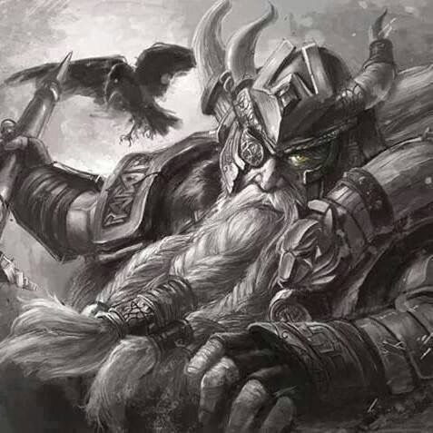 Image of the Viking God Odin