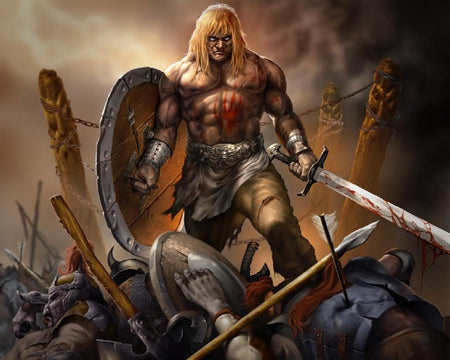 Berserkers were the Viking warriors who worshipped Odin and desired to live in Valhalla when they died