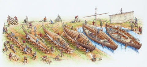 Image of the Viking building ships