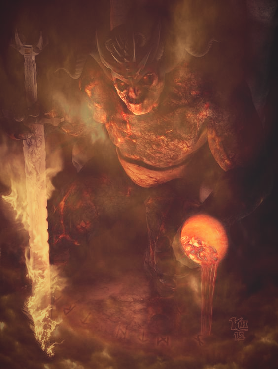 Image of Surtr the giant Norse mythology