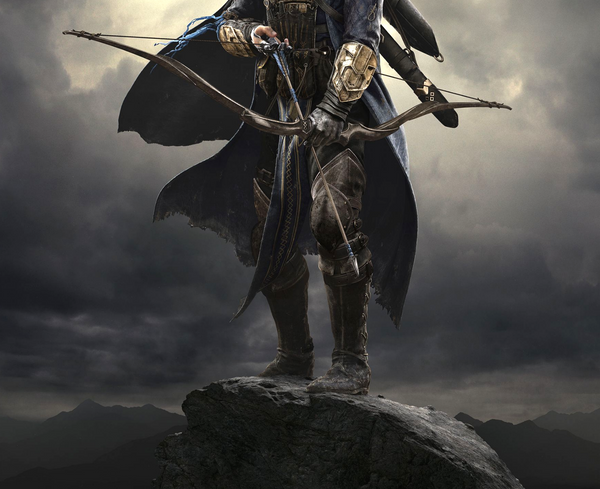 Viking warrior with bow and arrow