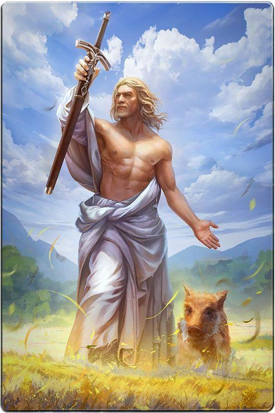 God Freyr in Norse mythology was the god of summer sunshine rain and fertility