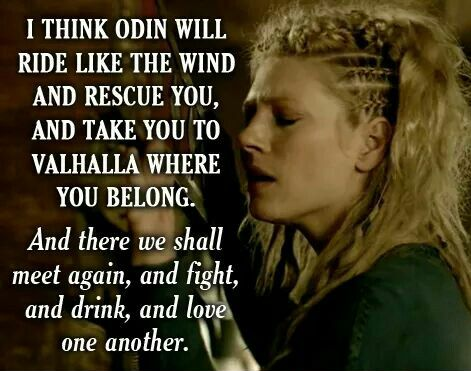 Lagertha quote to Ragnar Lothbrok in Vikings TV series