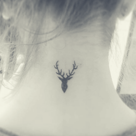 Image of small Viking tattoo Viking deer tattoo