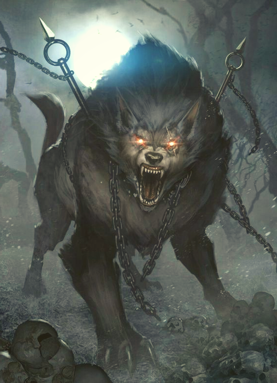 Image of Fenrir Wolf of Destruction Norse mythology
