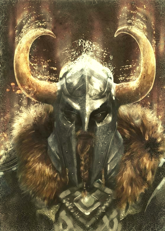 Image of Viking horned helmet