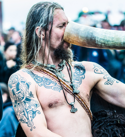 Image of Viking drinking Viking toast