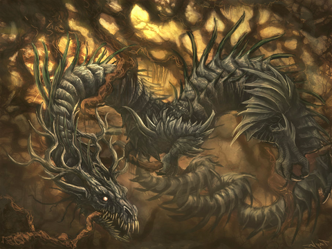 Image of Viking yggdrasil Nidhogg