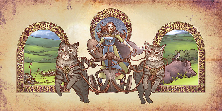 Image of Freya and her cats