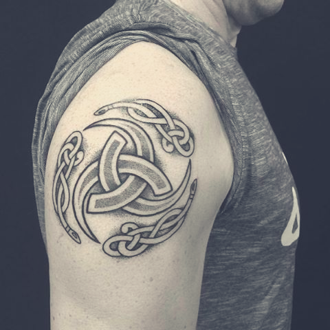 Image of Viking Triple Horn Tattoo