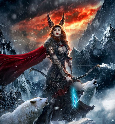 Image of Viking goddess of war