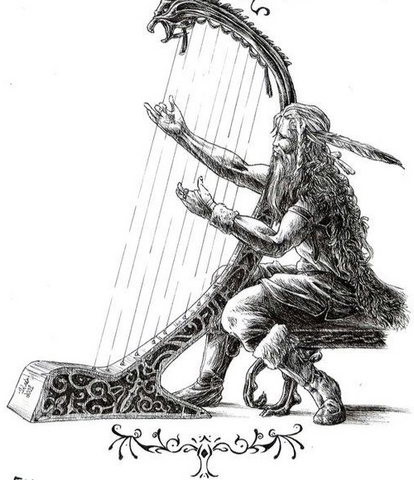 Image of Bragi Viking God of Entertainment