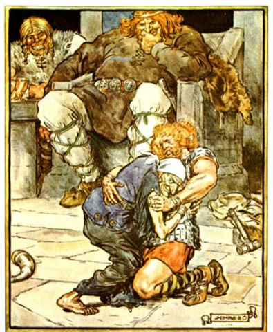 Image of Thor defeat by Elli