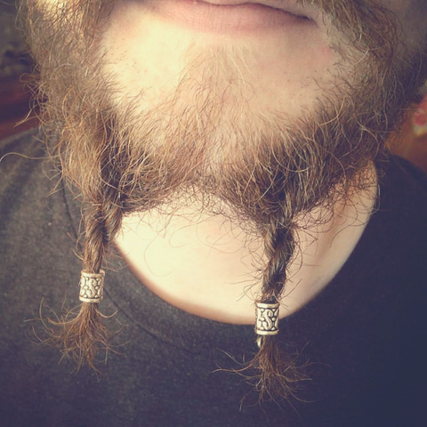 Image of how to wear Viking rune beads