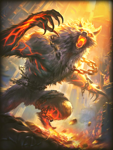 Image of VIking Fenrir Norse mythology