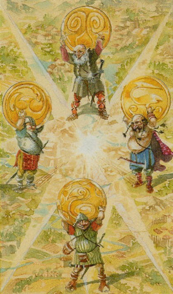 Four dwarves that held the sky in Norse mythology