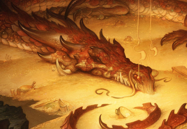 Fafnir the Dragon in Norse mythology guarded the precious yet deadly gold