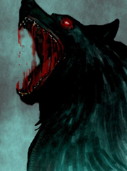The Howl of Fenrir in Norse mythology. Fenrir was destined to swallow Odin in their final battle marking the collapse of Norse Pantheon
