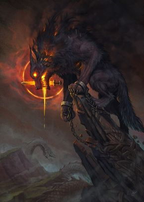The Binding of Fenrir in Norse mythology