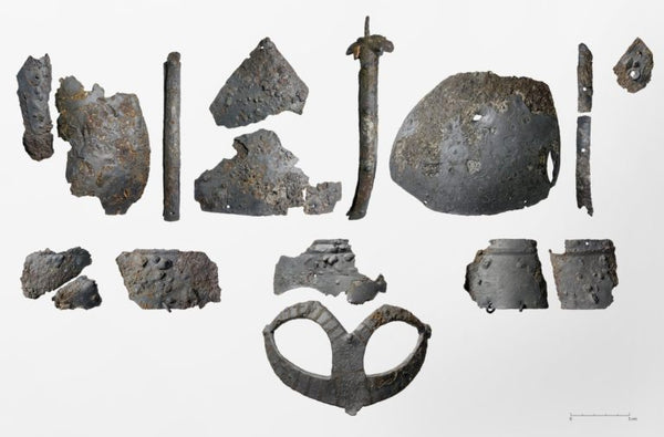 Fragments of Viking Gjermundbu helmet