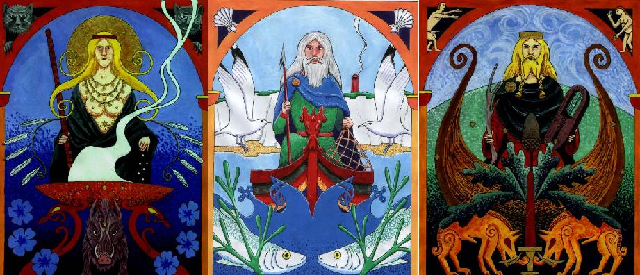 Image of Frya, Freyr, and Njor God of Seafaring
