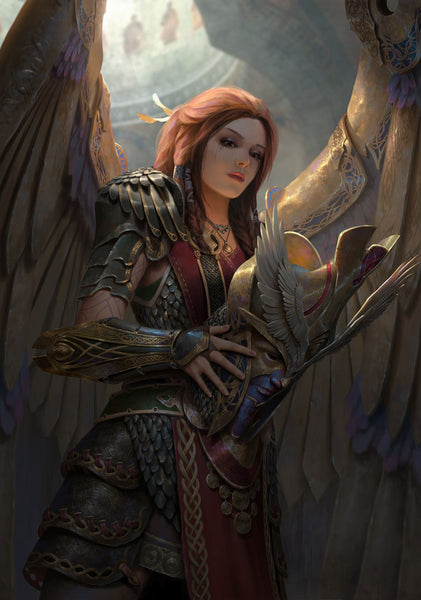 Freya was the Goddess of War in Norse mythology. She was the only one who could share the fallen warriors with Odin the Allfather.