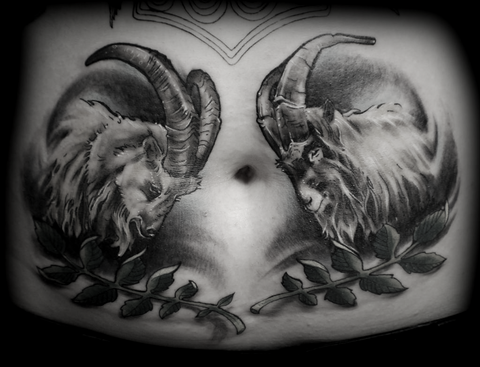 Thor goats tattoo Viking tattoo ideas inspiration