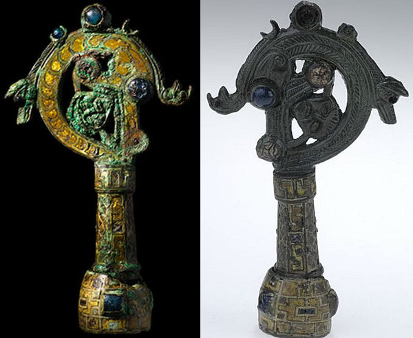 Crozier as a part inside Viking Helgo Treasure