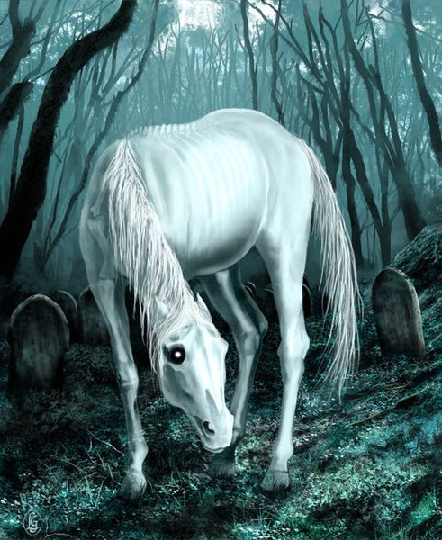 Helhest the Horse of Hel Queen of the Dead in Norse mythology