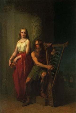 Idunn and Bragi in Norse mythology were wife and husband