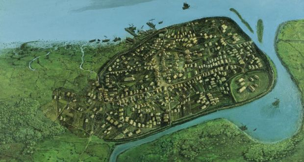 Image of Dublin 1000 years ago the Vikings