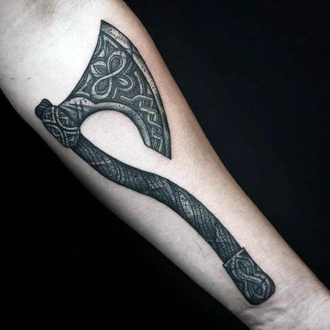 Image of Viking axe tattoo Viking tattoo ideas