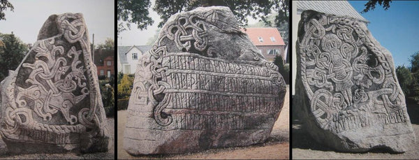 Jelling stone by King Harald Bluetooth