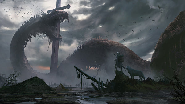 Jormungand the Midgard Serpent was the enormous serpent encircling the Nine Worlds