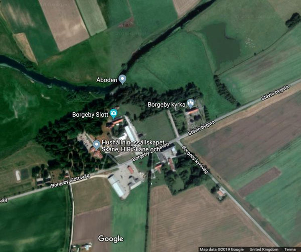 Borgeby castle from Google map