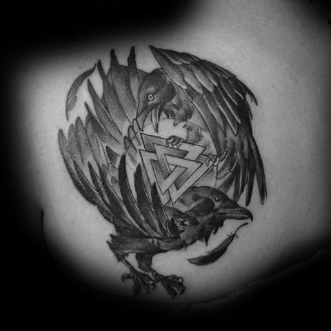 Image of raven viking tattoo