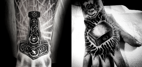 Mjolnir Thor Hammer Viking Tattoo