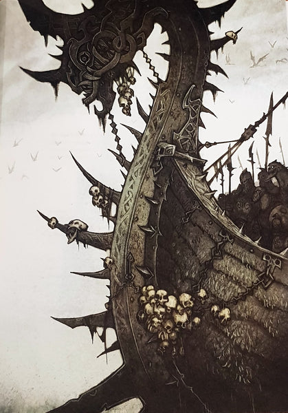 Naglfar ship carried the army of Loki from the Underworld to Asgard
