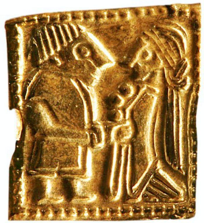 Image of Viking couple in Viking artifact