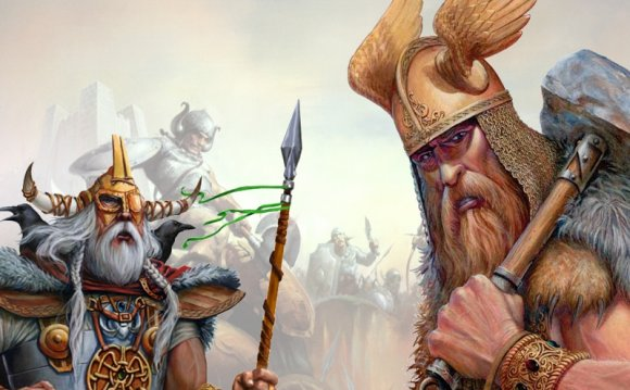 Odin the Allfather and Thor Norse god of thunder and storm in Norse mythology came from the Aesir god tribe