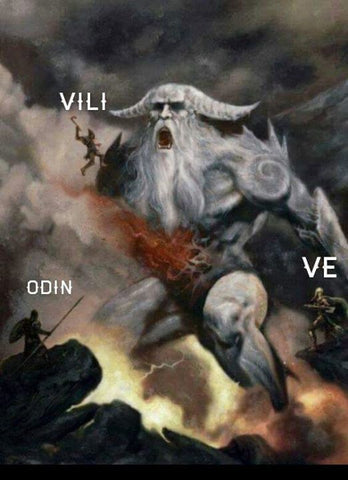 Odin, Vili, and Ve in Norse mythology Norse trinity symbol