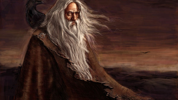Odin the Allfather in Norse mythology always appeared to be an old man with beard and cloak. He was one-eyed