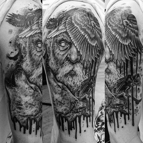 Image of viking raven tattoo