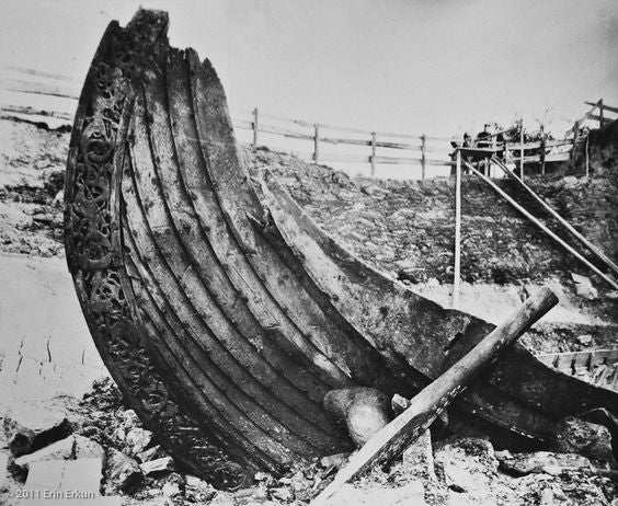 Oseberg Viking ship excavated