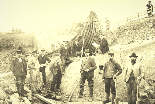 Image of oseberg ship excavation