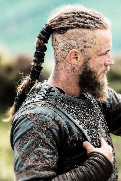 Ragnar Lothbrok's head raven tattoo explained