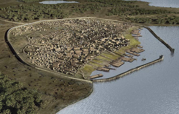 The reconstruction of Hedeby Viking commercial town