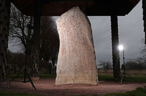 Rok runestone in preservation now